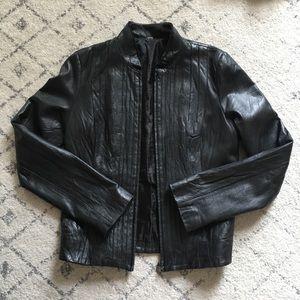 XCVI black leather jacket small